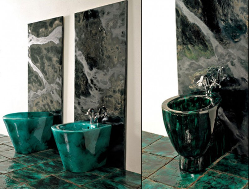 Green Vibrations Tiles collection by Franco Pecchioli 3