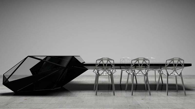 Hybrid office desk and conference table by Jovo Bozhinovski 3