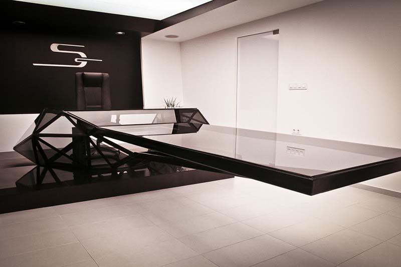 Hybrid office desk and conference table by Jovo Bozhinovski 4