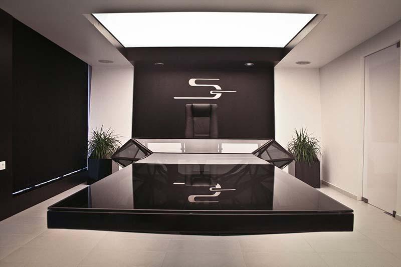 Hybrid office desk and conference table by Jovo Bozhinovski 5