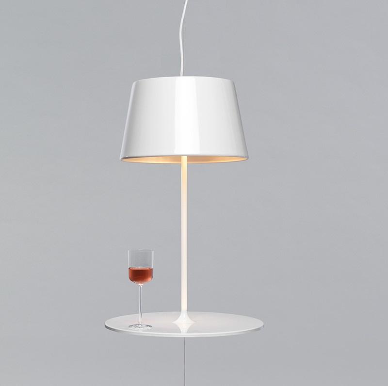 Illusion Hanging Lamp cum Table by Hareide Design 1