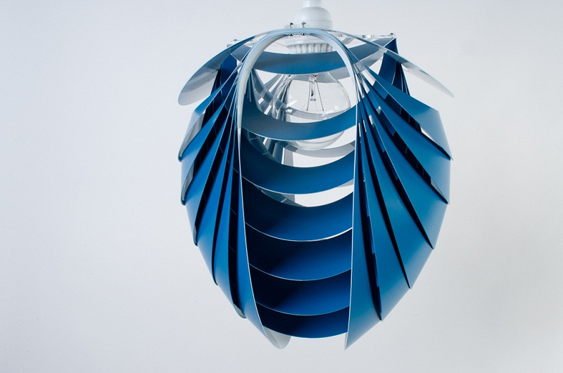 Kinema Pendant Luminaire Blue color By Stuart Fingerhut 1