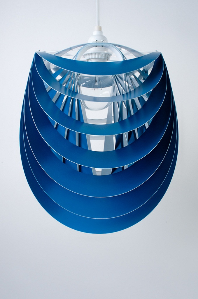 Kinema Pendant Luminaire Blue color By Stuart Fingerhut 2