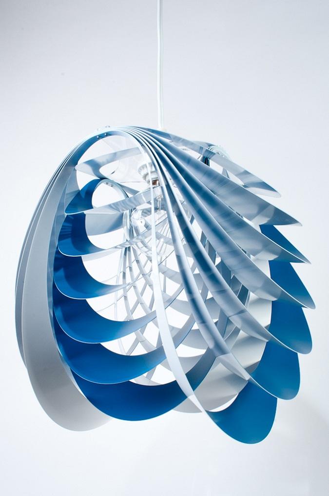 Kinema Pendant Luminaire Blue color By Stuart Fingerhut 3