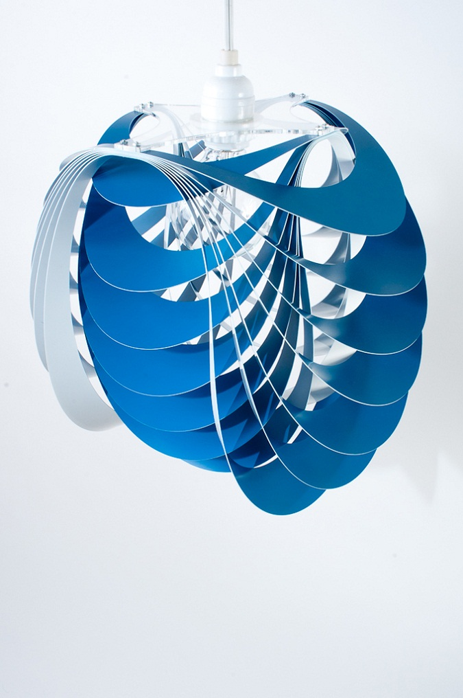 Kinema Pendant Luminaire Blue color By Stuart Fingerhut 4