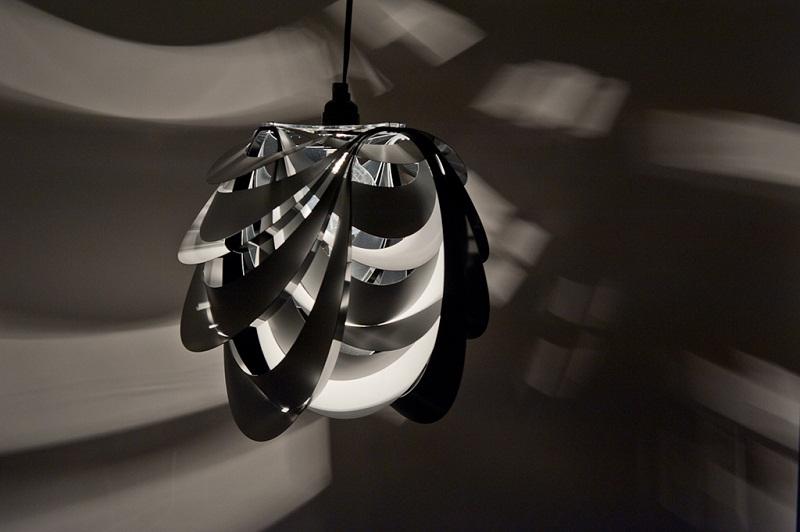 Kinema Pendant Luminaire White color By Stuart Fingerhut 2