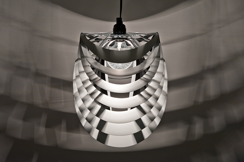 Kinema Pendant Luminaire White color By Stuart Fingerhut 3