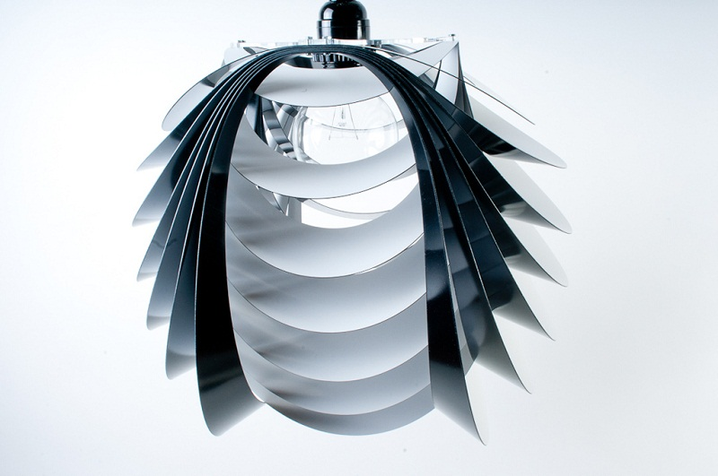 Kinema Pendant Luminaire White color By Stuart Fingerhut 4