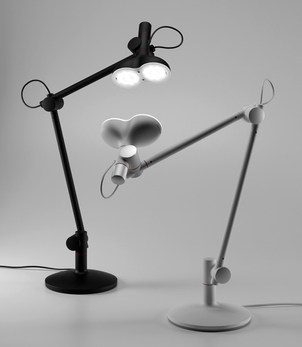 LOBOT desk lamp with comic look