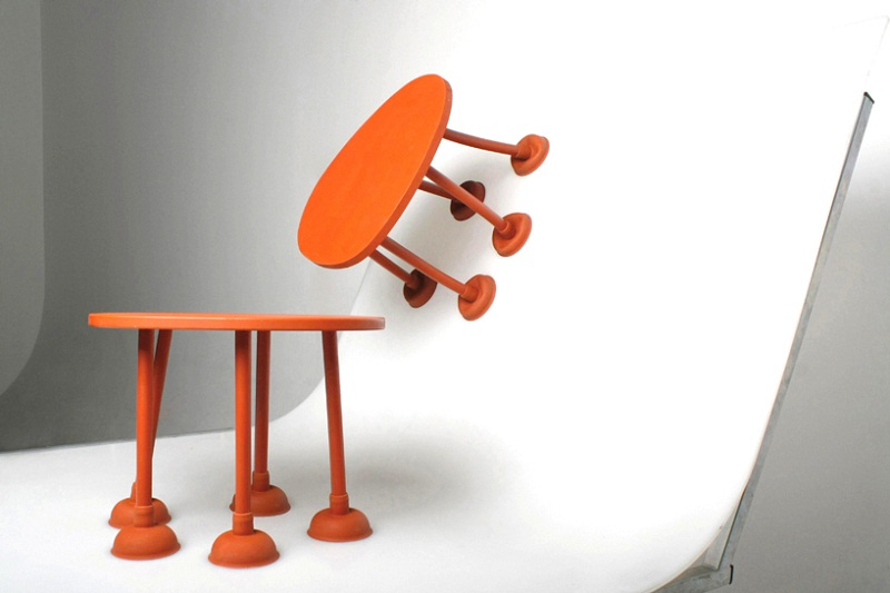 Rubber Table by Thomas Schnur 1