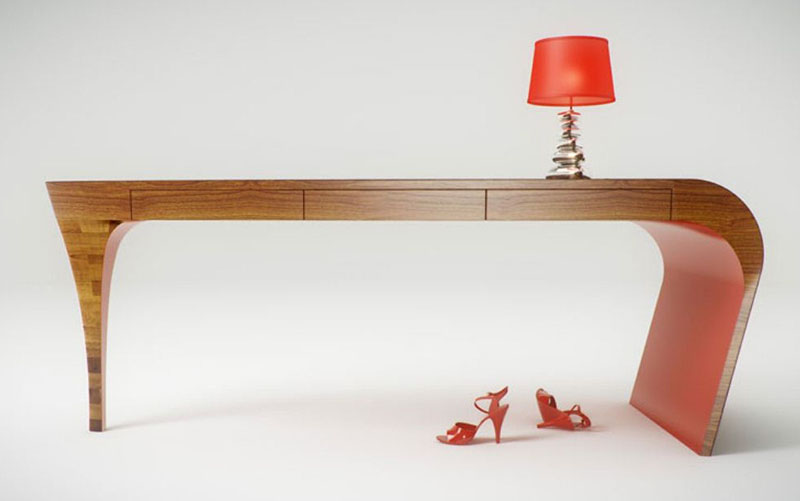 Feminine table design Stiletto by Splinter Design 3