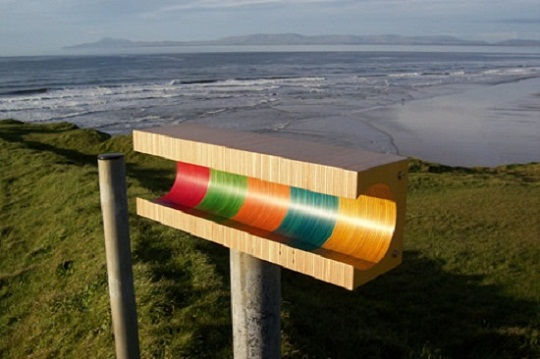 Summer Colored Striped Shelf by Martin Gallagher 3