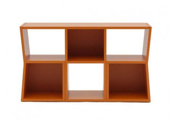 Trick Bookcase cum Table by Sakura Adachi