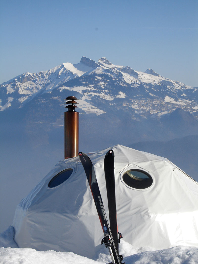 The Whitepod Resort in Swiss Alps Mountain 2