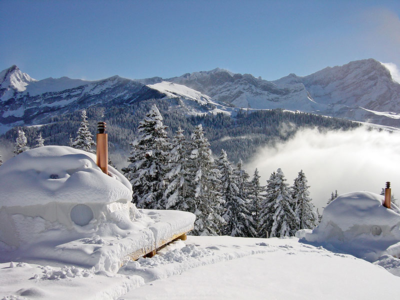 The Whitepod Resort in Swiss Alps Mountain 3