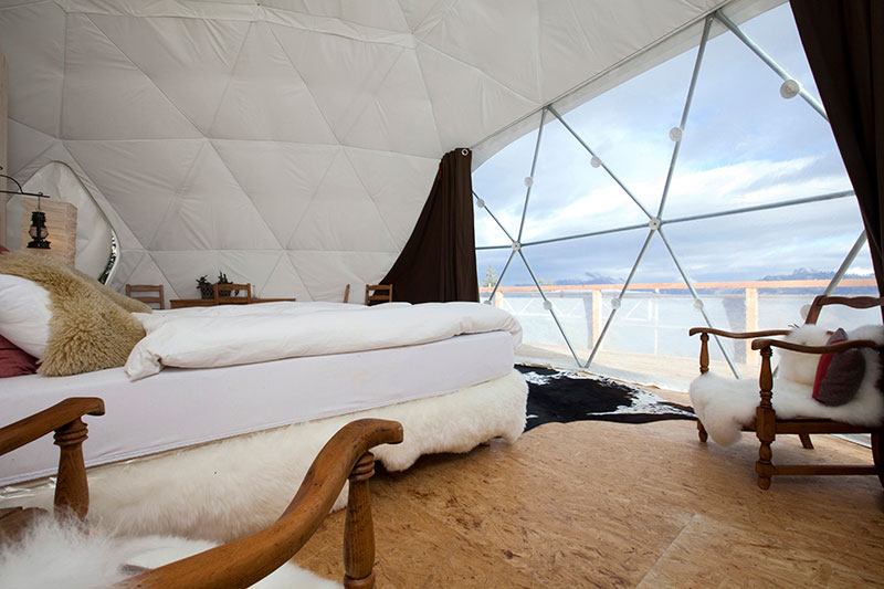 The Whitepod Resort in Swiss Alps Mountain 5