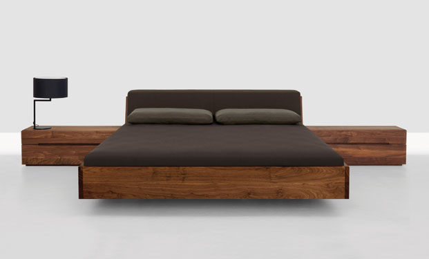 Fusion Solid Wood Bed by Zeitraum 4