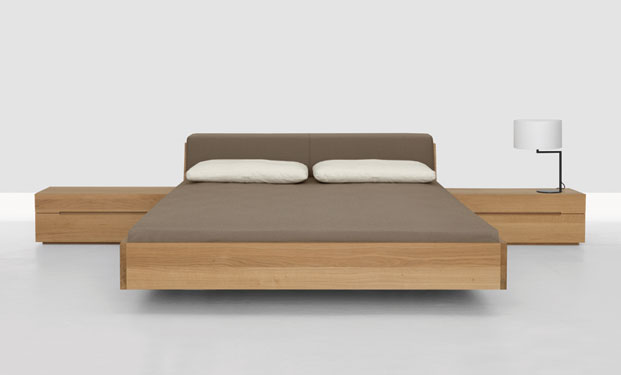 Fusion Solid Wood Bed by Zeitraum 7