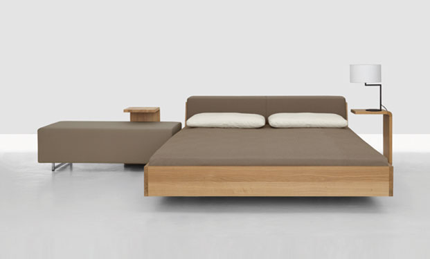 Fusion Solid Wood Bed by Zeitraum 8