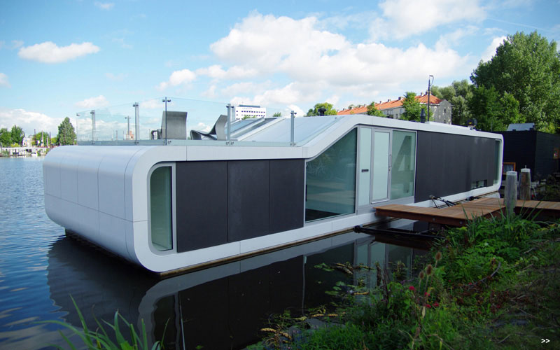 Watervilla De Omval Houseboat by Plus31 Architects 1