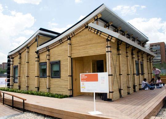 Eco-Friendly Sustainable Bamboo Solar House 1