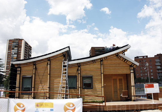 Eco-Friendly Sustainable Bamboo Solar House 3