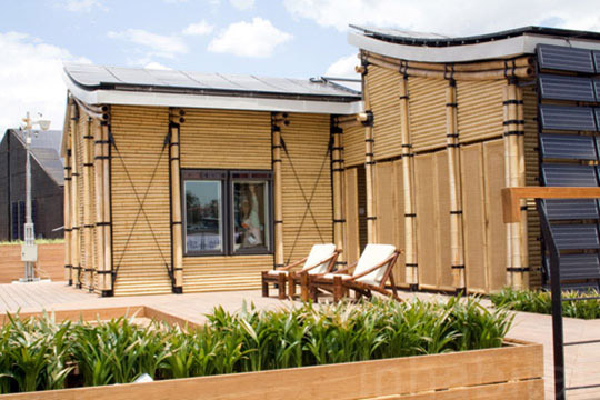 Eco-Friendly Sustainable Bamboo Solar House 4