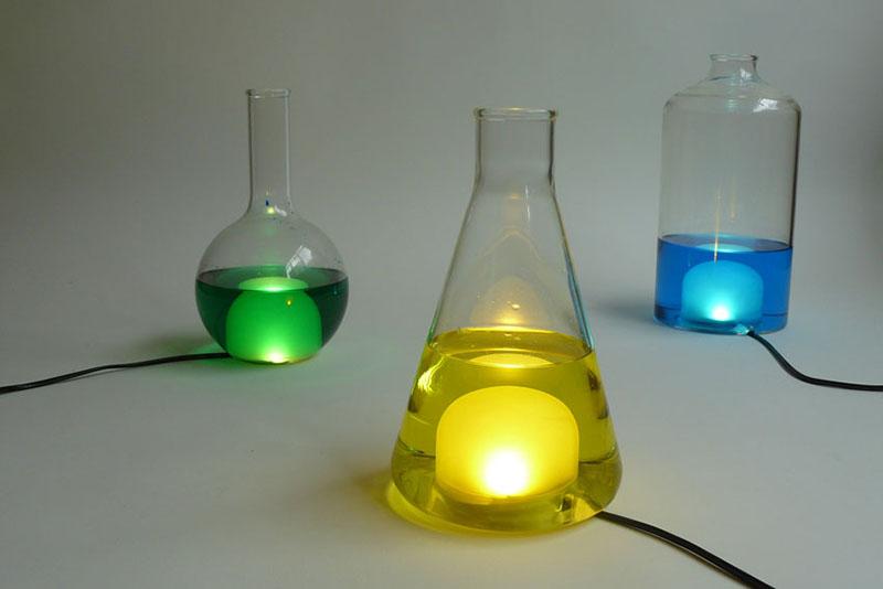 Color changing Lamp design Liquid Lights 1