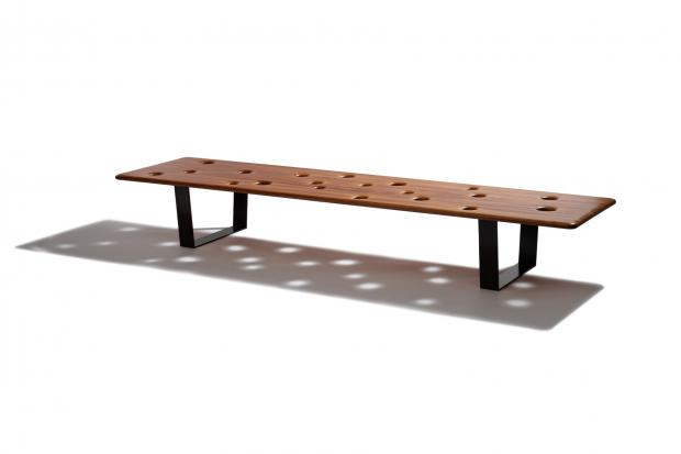 Fizz Bench with Solid Mahogany Top 1