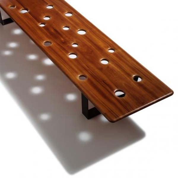 Fizz Bench with Solid Mahogany Top 2