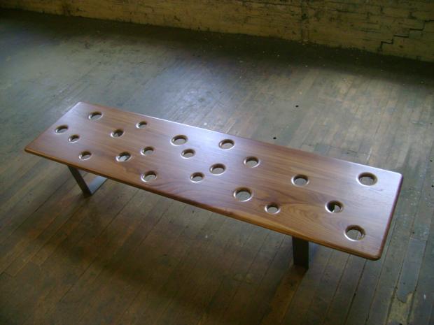 Fizz Bench with Walnut top
