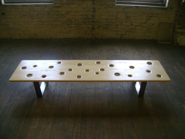 Fizz Bench with White Ash Top 4