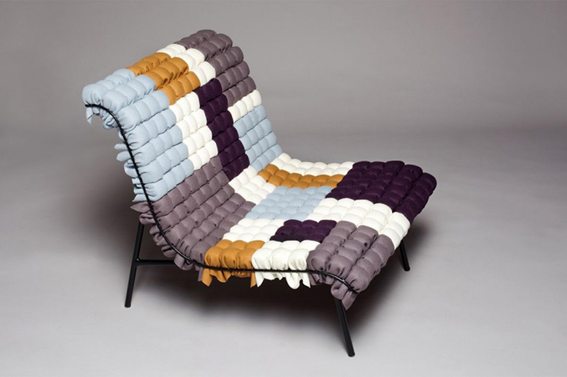 Mosaiik colorful lounge chair by Annika Goransson 1