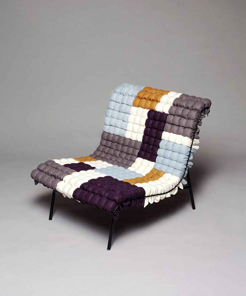 Mosaiik colorful lounge chair by Annika Goransson 2