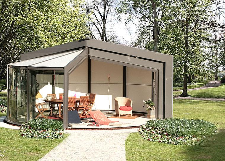 Modern Outdoor Glass Extension Veranda OpenSun 1
