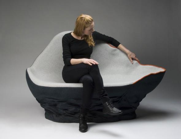 Unique Upholstered Sofa Ostrea by Annika Goransson 3