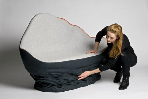 Unique Upholstered Sofa Ostrea by Annika Goransson 7