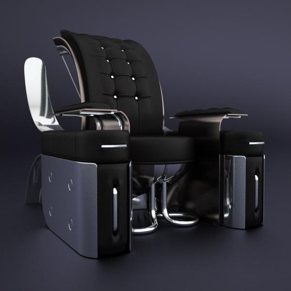 Retro-Futuristic furniture Rondocubic Chair 1