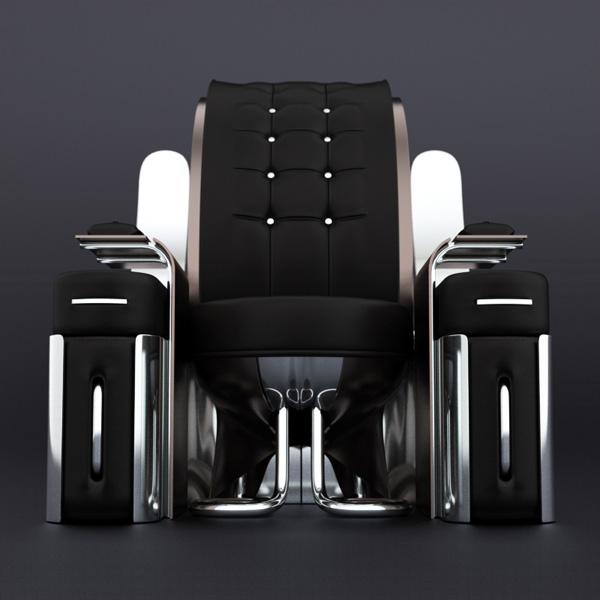 Retro-Futuristic furniture Rondocubic Chair 2