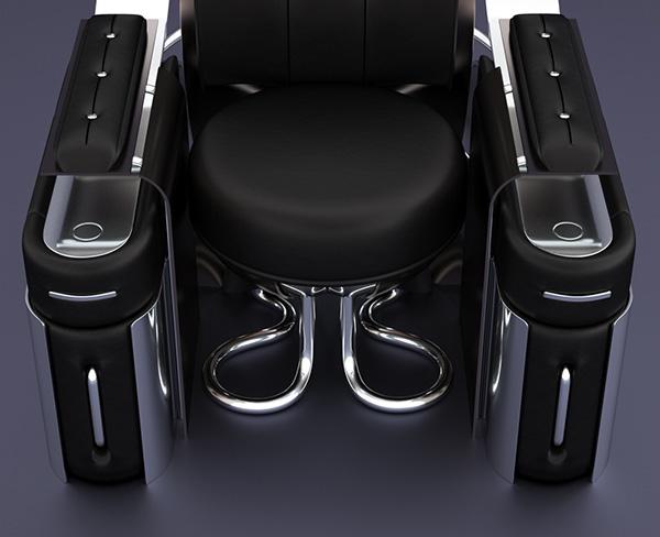 Retro-Futuristic furniture Rondocubic Chair 6