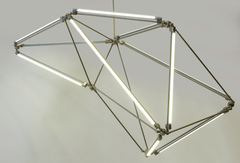 Thin LED Tube Lamp SHY Light by Bec Brittain 4