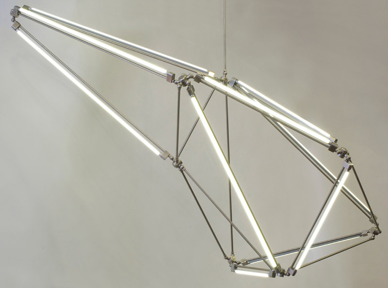 Thin LED Tube Lamp SHY Light by Bec Brittain 5