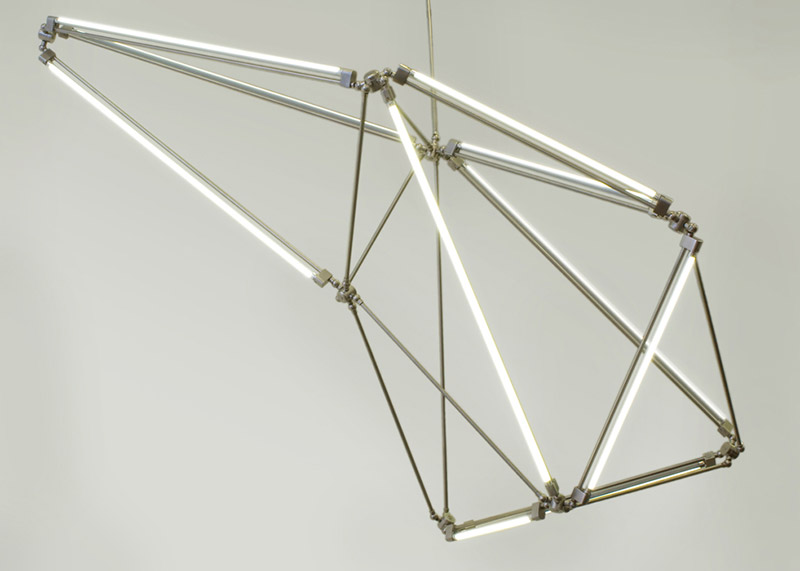 Thin LED Tube Lamp SHY Light by Bec Brittain 6