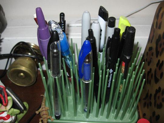 Umbra Grassy Rubber Bathroom items Organizer 4