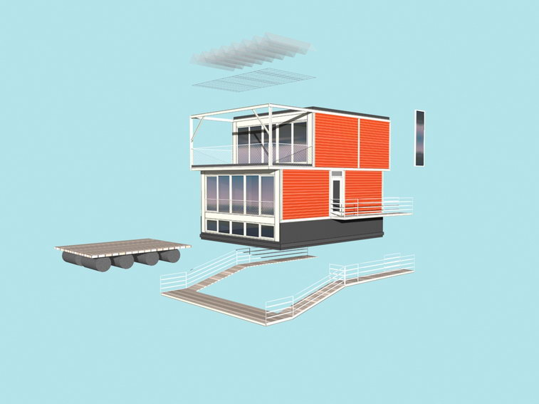 Hybrid of a House and a Boat - Waterdwellings on IJburg 11