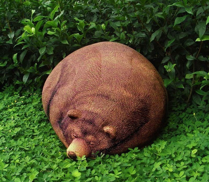 Sleeping Grizzly Bear Bean Bag 1