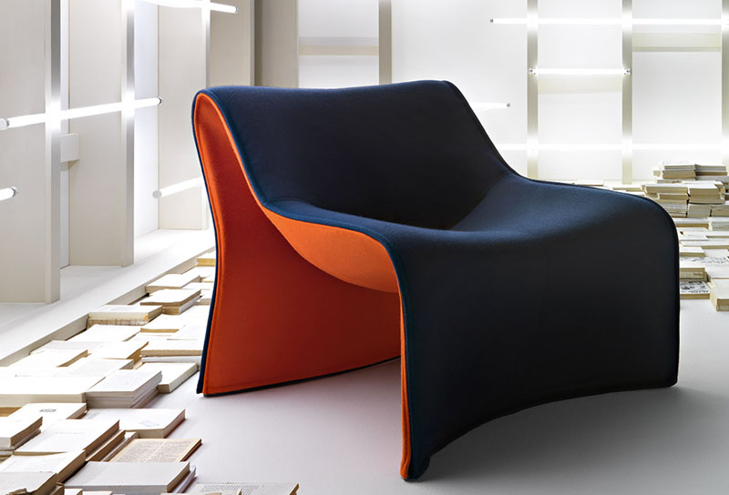 Comfortable Armchair Cloth by CASSINA 6