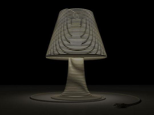 Coil Lamp by Craighton Berman original rendering