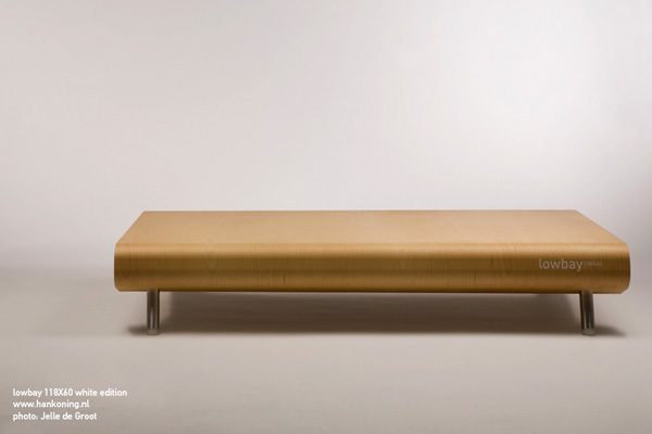 Ultra-Low Coffee Table Lowbay by Han Koning 1