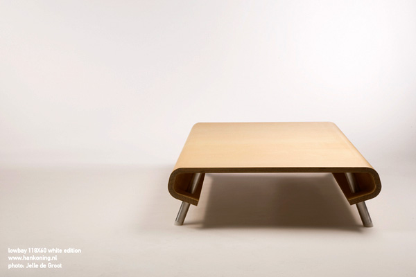 Ultra-Low Coffee Table Lowbay by Han Koning 2